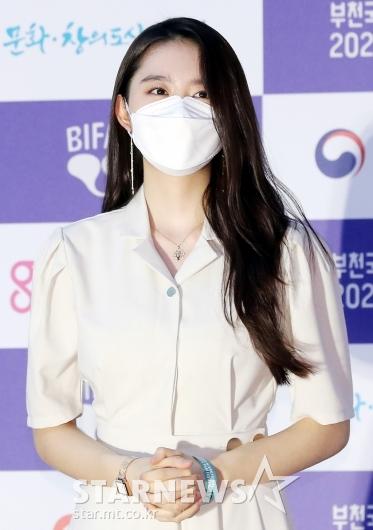 김소혜 '마스크로 가려지지 않는 미모' [★포토]