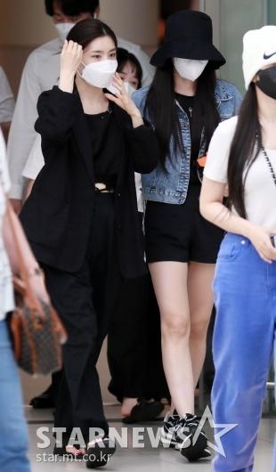 유나-은지 '공항에서도 빛나는 미모'[★포토]