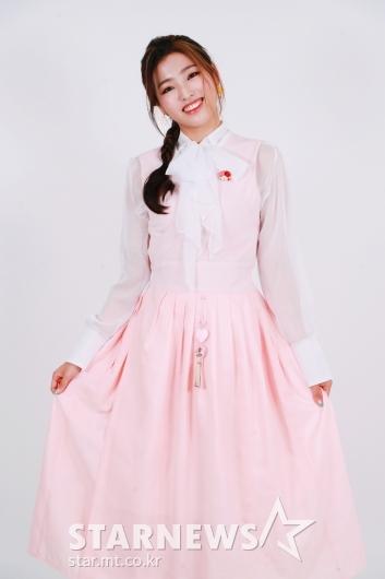 하이엘 예슬 '연분홍 한복 예쁘죠?'[★포토]