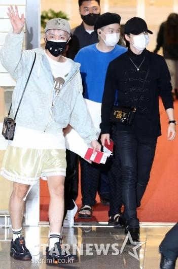 BTS 제이홉-슈카-지민 '3인3색 공항패션'[★포토]