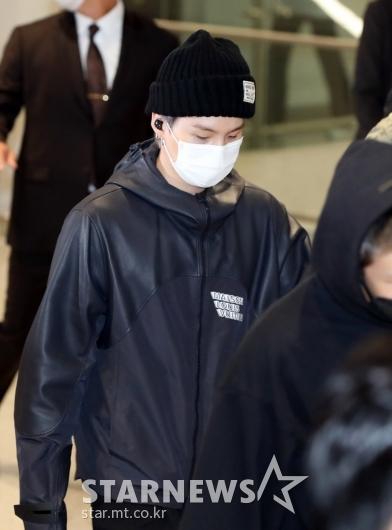 방탄소년단 슈가 '새벽이라 피곤해요'[★포토]