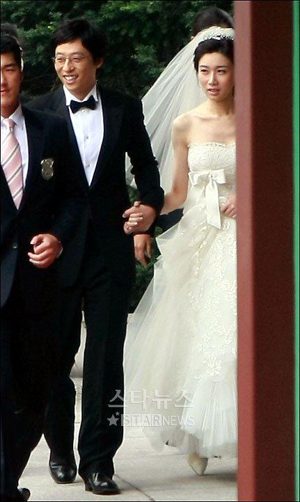 [★포토]행복한 유재석-나경은 커플