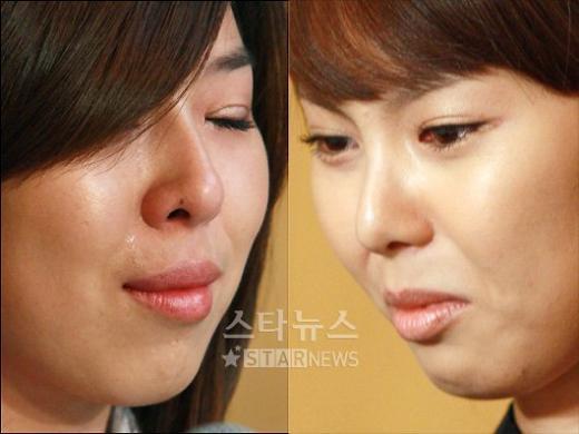 [★포토]지이-금비 '멈추지 않는 눈물'