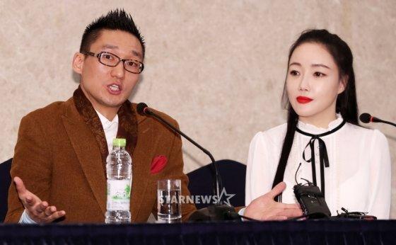 왕진진(왼쪽)과 낸시랭 /사진=스타뉴스