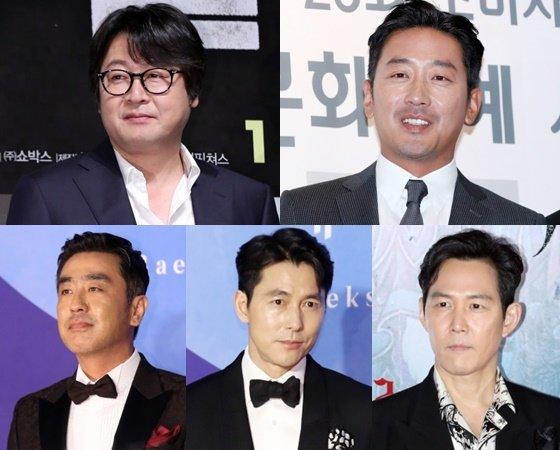 (왼쪽 위부터 시계방향) 김윤석, 하정우,이정재,정우성, 류승룡 / 사진=스타뉴스