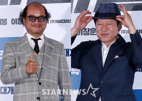 배우 김상호(왼쪽), 김응수 /사진=김휘선 기자