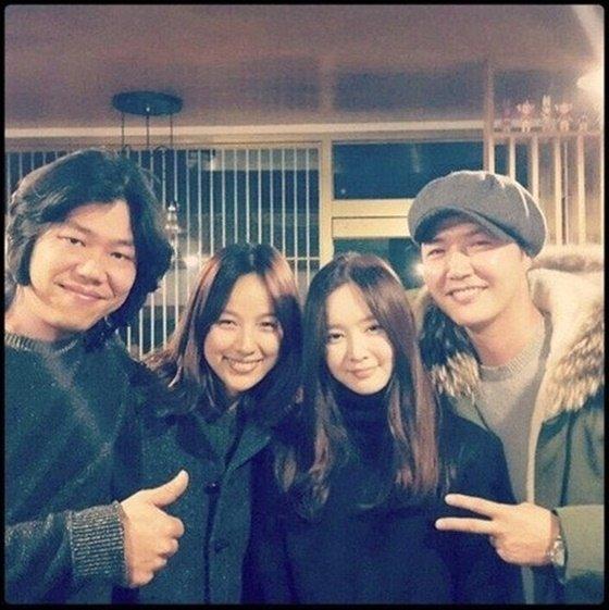 (왼쪽부터) 이상순, 이효리, 메이비, 윤상현./사진=메이비 인스타그램