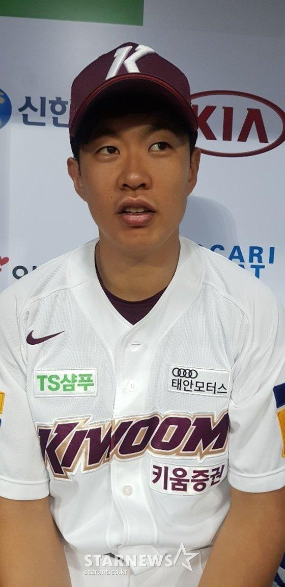 17일 경기 뒤 만난 송성문. /사진=이원희 기자