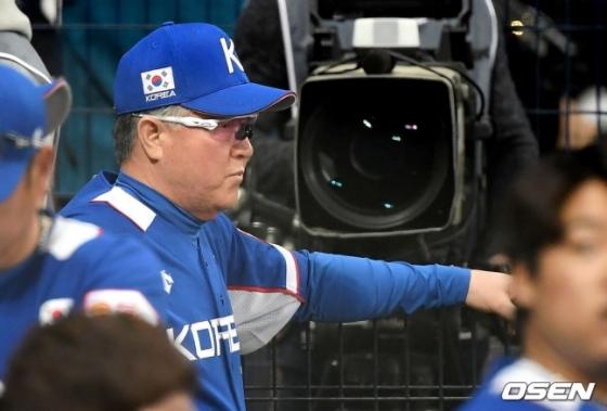 김경문 한국 야구 대표팀 감독.