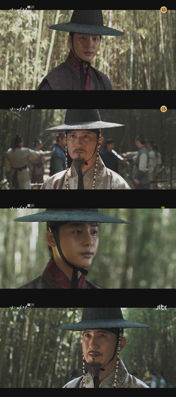 양세종, 안내상 /사진=JTBC \'나의 나라\' 방송화면 캡처