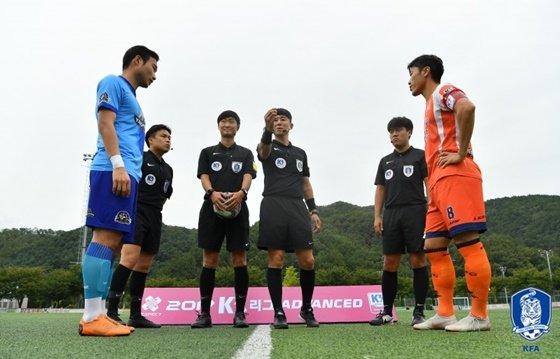 양평FC(왼쪽)와 화성FC. /사진=대한축구협회