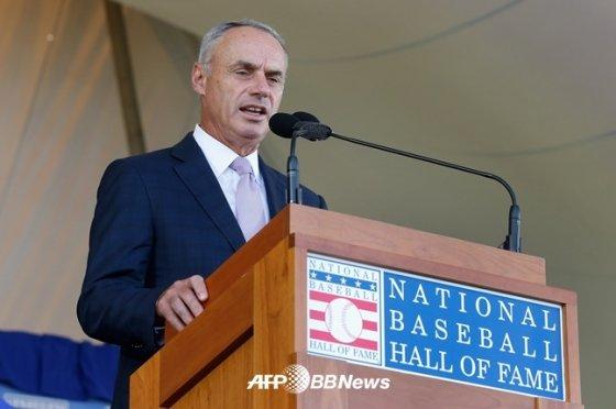 롭 만프레드 MLB 커미셔너.  /AFPBBNews=뉴스1
