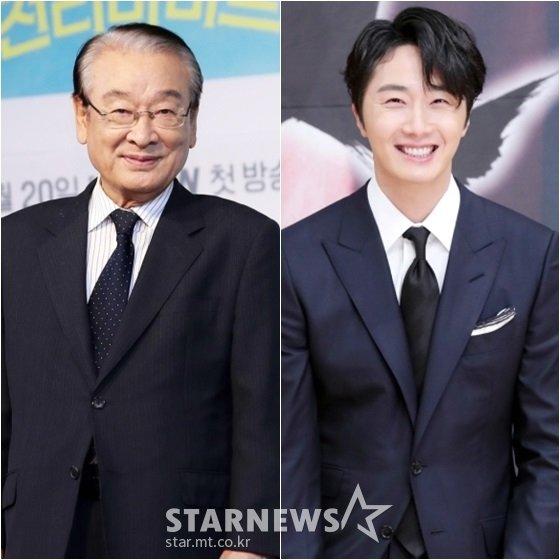 이순재(왼쪽)와 정일우 /사진=스타뉴스