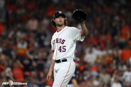 뉴욕 양키스 유니폼을 입게 된 게릿 콜. /AFPBBNews=뉴스1