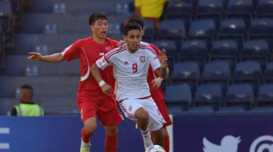 북한-UAE전 모습. /사진=AFC(아시아축구연맹) 제공