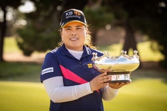 ISPS 한다 호주여자오픈에서 우승한 박인비./사진=Golf Australia