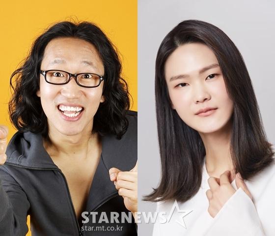 개그맨 김경진, 모델 전수민 /사진=스타뉴스, 몰프