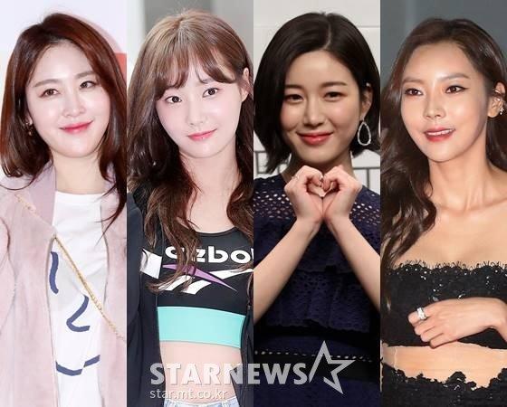 방송인 신아영, 그룹 모모랜드 연우, 배우 이다인, 서영 /사진=스타뉴스