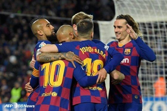 바르셀로나 선수들. /AFPBBNews=뉴스1