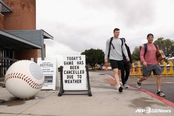 야구 경기가 열리는 미국 애리조나주의 페오리아 스타디움. /사진=AFPBBNews=뉴스1