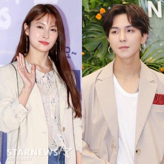 (왼쪽부터) 박규리, 송민호 /사진=스타뉴스