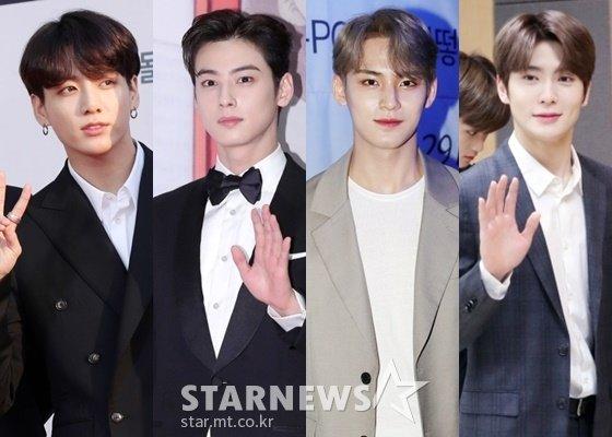 (왼쪽부터) 정국, 차은우, 민규, 재현 /사진=스타뉴스