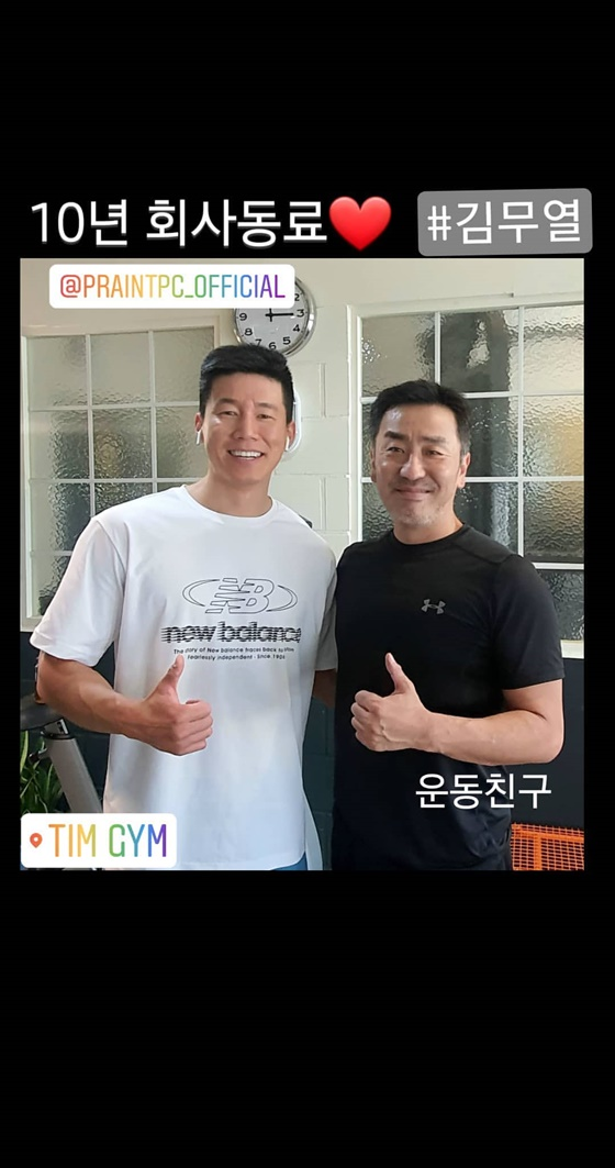류승룡, 김무열 /사진=류승룡 인스타그램