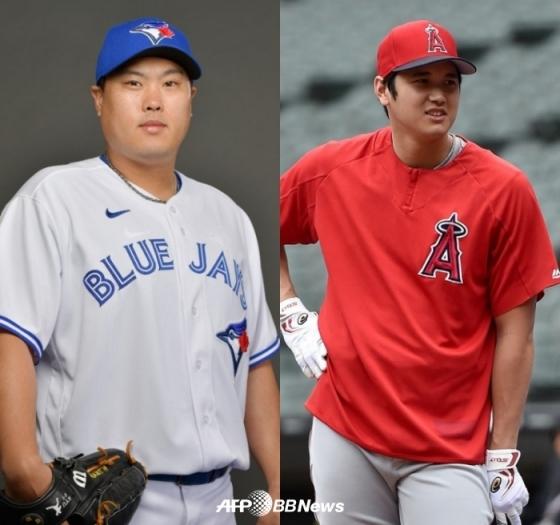 류현진(좌)과 오타니 쇼헤이. /AFPBBNews=뉴스1