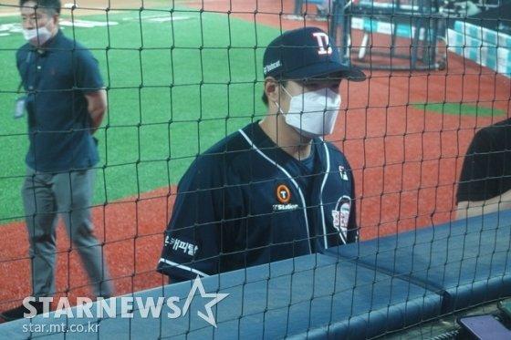 홈런 포함 2안타 4타점으로 활약한 두산 김재환. /사진=김동영 기자