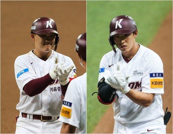 전병우(왼쪽)와 김웅빈. /사진=키움 히어로즈 제공