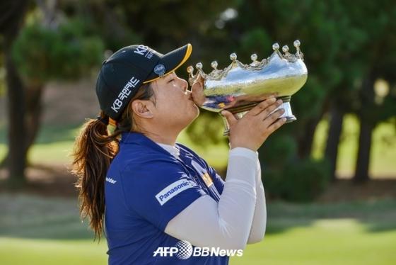 지난 2월 호주여자오픈에서 우승한 박인비./AFPBBNews=뉴스1