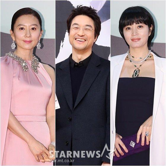 김희애(왼쪽부터), 한석규, 김혜수 /사진=이동훈, 김휘선 기자