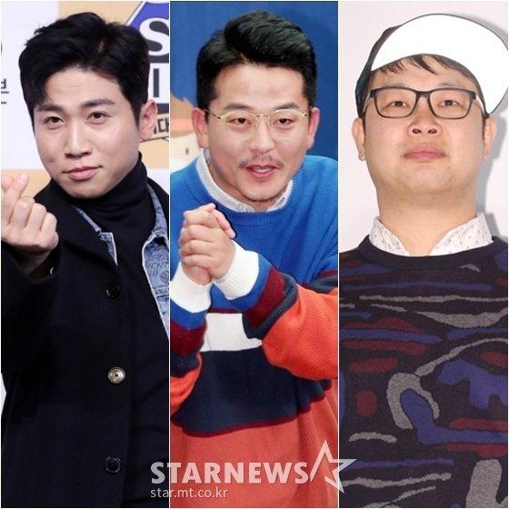 유세윤(왼쪽부터), 김준호, 권재권 /사진=홍봉진, 김창현 기자