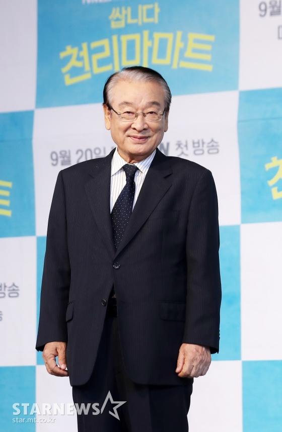 배우 이순재 /사진=김휘선 기자