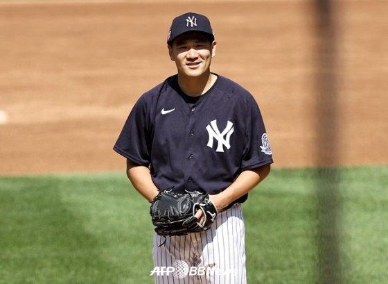뉴욕 양키스 일본인 투수 다나카 마사히로./AFPBBNews=뉴스1