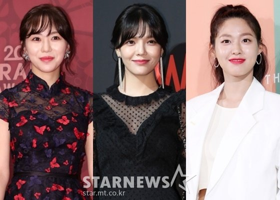 AOA 권민아(왼쪽부터), 지민, 설현 /사진=스타뉴스