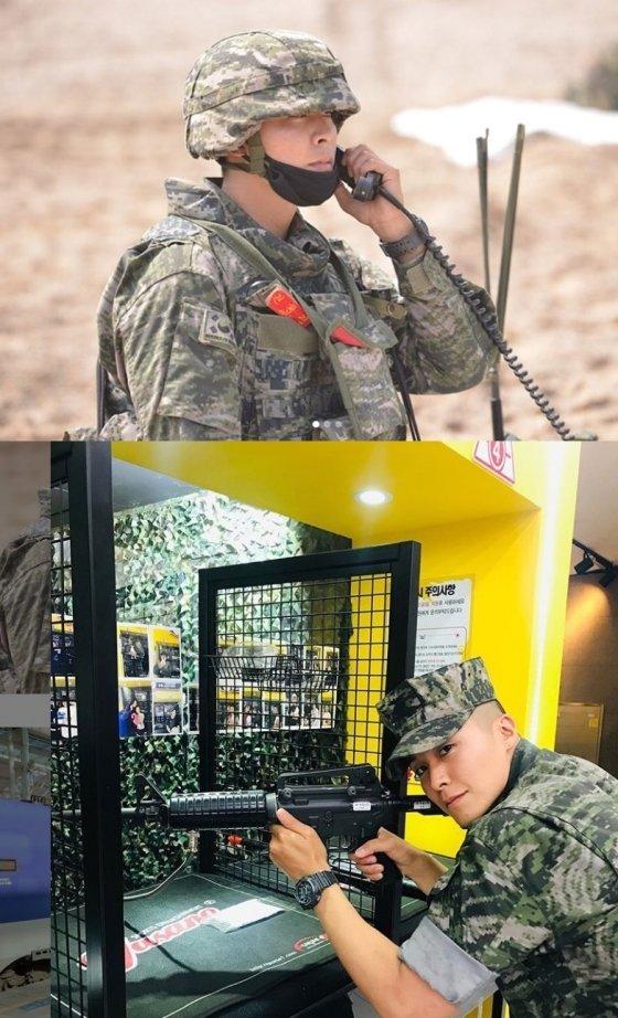 해병에서 복무중인 권광진 / 사진출처=권광진 공식 SNS