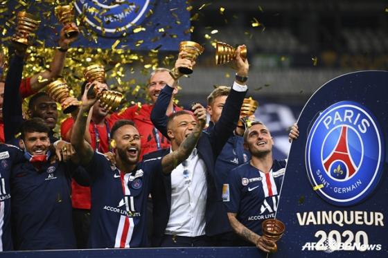 파리 생제르맹의 우승 세리머니. /사진=AFPBBNews=뉴스1