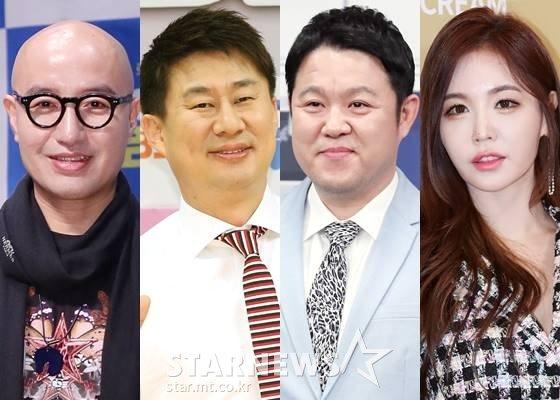방송인 홍석천, 남희석, 김구라, 강예빈 /사진=스타뉴스