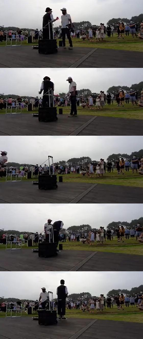 /사진=거리예술가 송정배씨 페이스북 영상 화면 캡쳐
