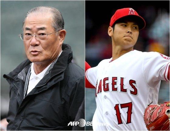 장훈(왼쪽)과 오타니. /AFPBBNews=뉴스1
