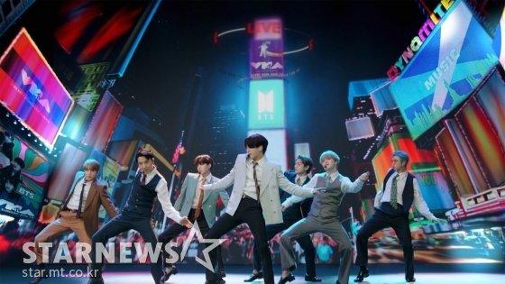 방탄소년단 2020 MTV Video Music Awards \'Dynamite\' 무대 /AFPBBNews=뉴스1=스타뉴스