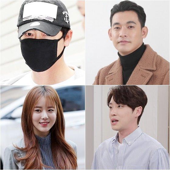 강지환(왼쪽위부터 시계방향), 정석원, 강성욱, 한지선 /사진=스타뉴스, KBS