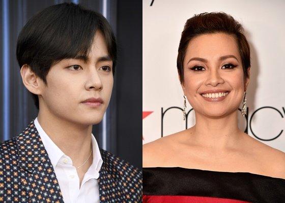 방탄소년단 뷔(BTS V)와 레아 살롱가(Lea Salonga) /AFPBBNews=뉴스1=스타뉴스