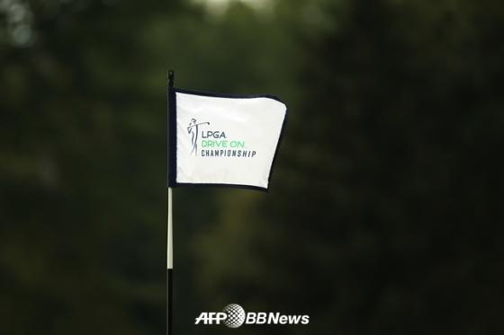 지난 8월에 열린 LPGA 드라이브 온 챔피언십 대회 깃발./AFPBBNews=뉴스1