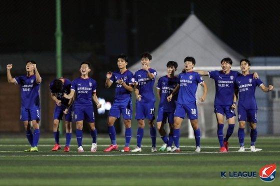 수원 삼성 선수단. /사진=한국프로축구연맹 제공