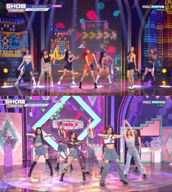 /사진= MBC M '쇼! 챔피언' 방송 화면