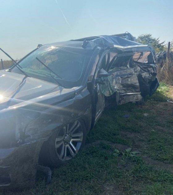 브룩스가 SNS에 공개한 사고차량. /사진=브룩스 SNS