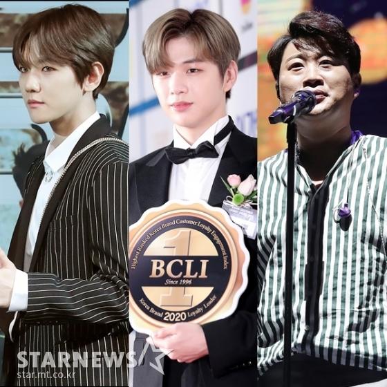 (왼쪽부터) 백현, 강다니엘, 김호중 /사진=스타뉴스