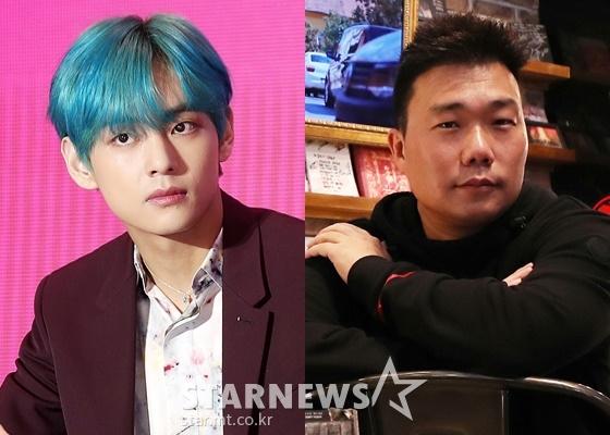 방탄소년단 뷔(BTS V)와 쟈니브로스 김준홍 감독 /사진=스타뉴스